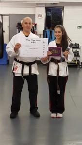 Karate Black Belt White Tiger Training