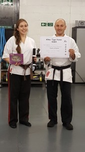 Karate Black Belt White Tiger Training